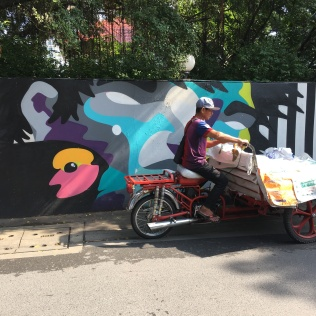 bike man and mural