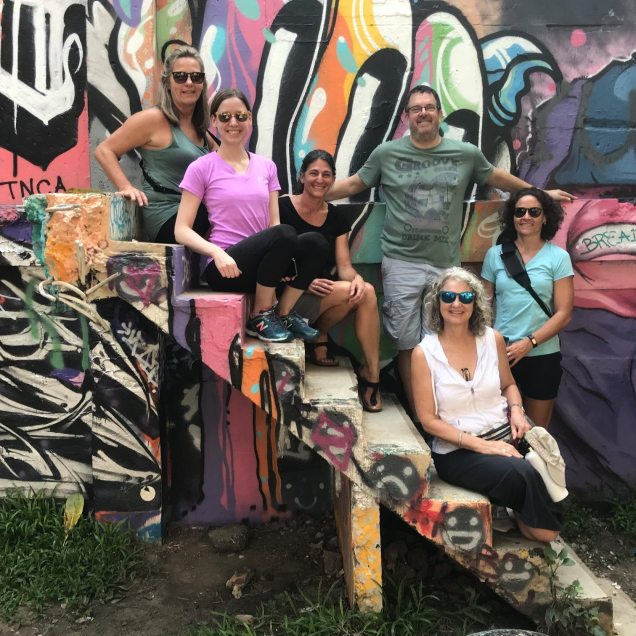 group with streetart in bangers