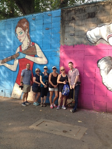 group and mural